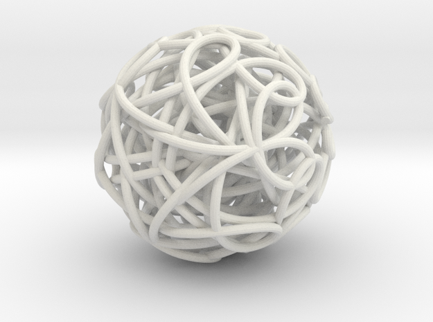 ScribbleBall in White Natural Versatile Plastic