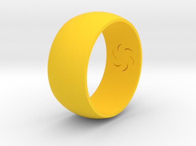 Ring Of Void in Yellow Processed Versatile Plastic
