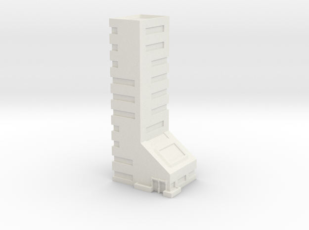 Office Building 10 Story in White Natural Versatile Plastic