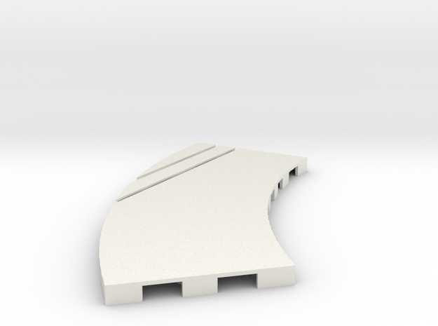P-65stp-curve-lh-junction-outer-145r-100-pl-1a in White Natural Versatile Plastic