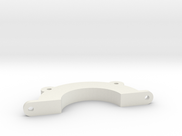 Half-circle mounting bracket for tuning inlet for  in White Natural Versatile Plastic
