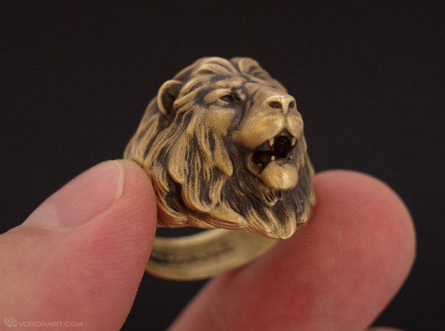 Lion Ring in Raw Brass: 11.5 / 65.25