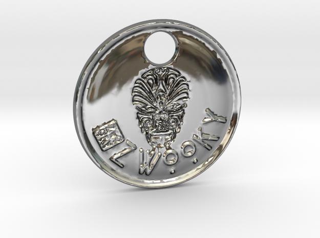 ZWOOKY Style 87 Sample - keychain head in Fine Detail Polished Silver