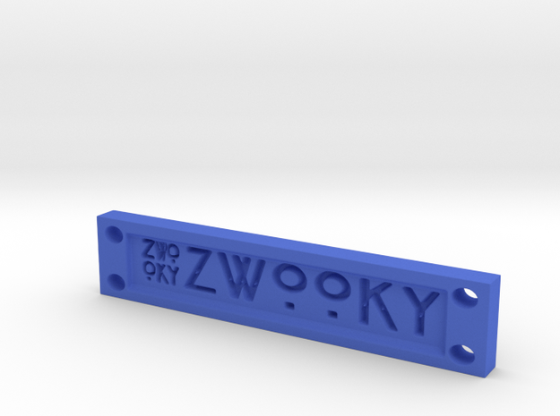 ZWOOKY Style 14 Sample - Clothing label  in Blue Processed Versatile Plastic