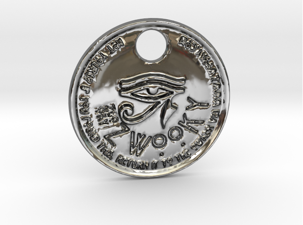 ZWOOKY Style 166 - pendant Ra in Fine Detail Polished Silver