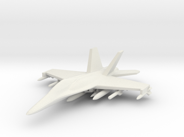 1/285 (6mm) F-18 Super -w/Conform Tanks w/ord-2 3d printed