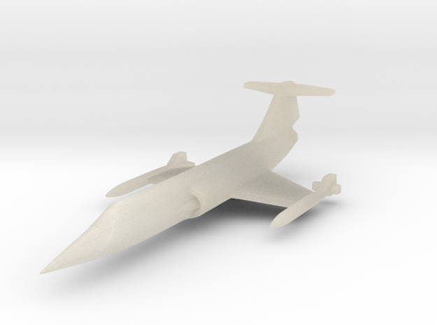 1/285 (6mm) F-104 Starfighter 3d printed