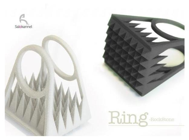 RockStone - ring size 5 3d printed Size 5
