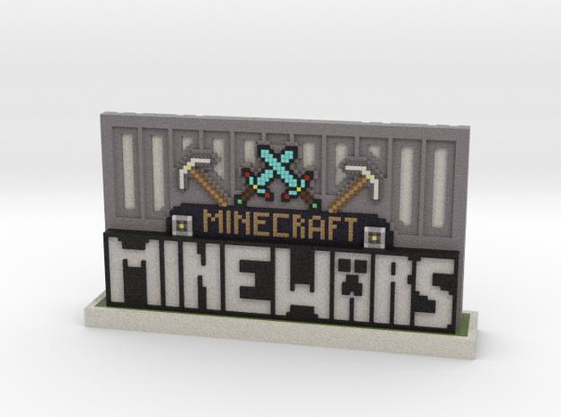 MineWars Logo Desktop Trinket in Full Color Sandstone