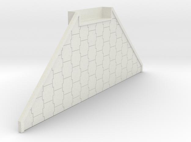"N Scale Bridge Abutment ""Terre Armee"" in White Natural Versatile Plastic"