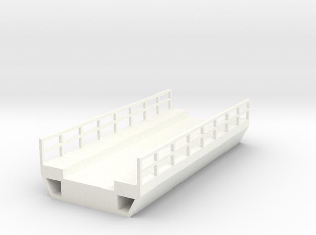 N Scale Modern Concrete Bridge Deck Single Track 8 in White Processed Versatile Plastic