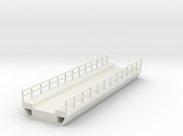 N Modern Concrete Bridge Deck Single Track 120mm in White Natural Versatile Plastic