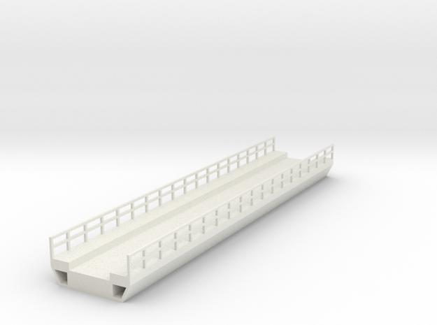 N Modern Concrete Bridge Deck Single Track 180mm in White Natural Versatile Plastic