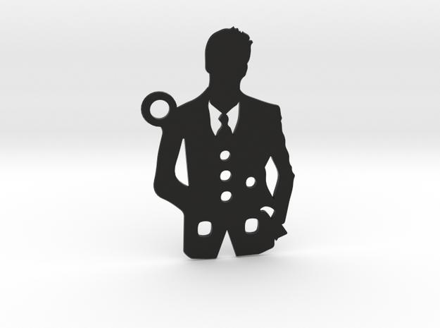 Gentleman / Suit-Man in Black Natural Versatile Plastic