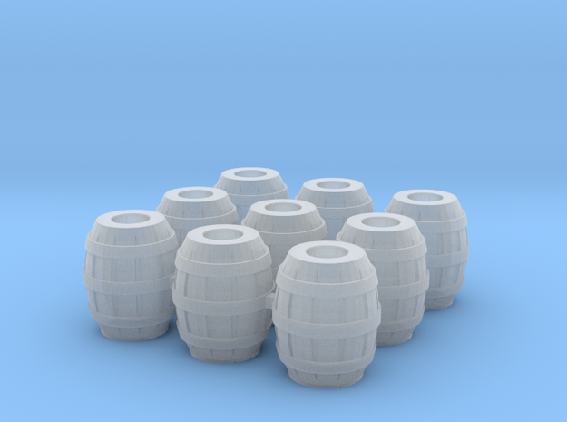 9 Barrels for 28mm minis in Smooth Fine Detail Plastic