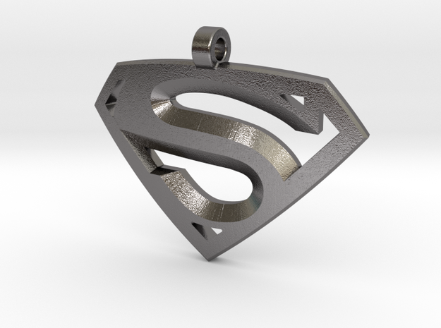 Superman Medallion in Polished Nickel Steel