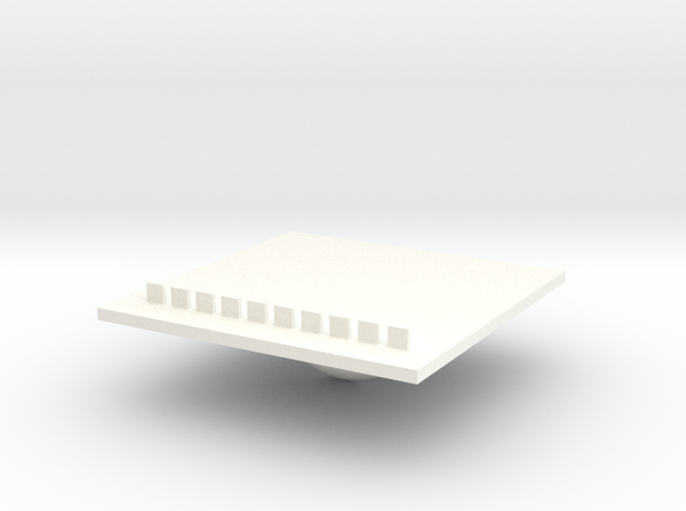 Tray part B version 003 in White Strong & Flexible Polished