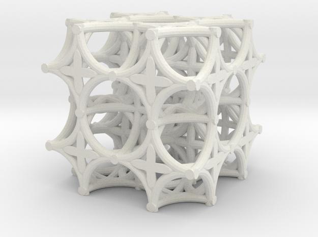 Torus Truss (2 x 2 x 2) in White Natural Versatile Plastic