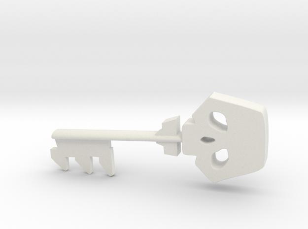 Borderlands Style Golden Key in White Strong & Flexible