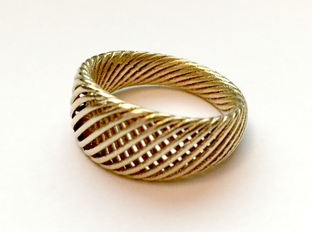 Twisted Ring - Size 4 in Natural Brass