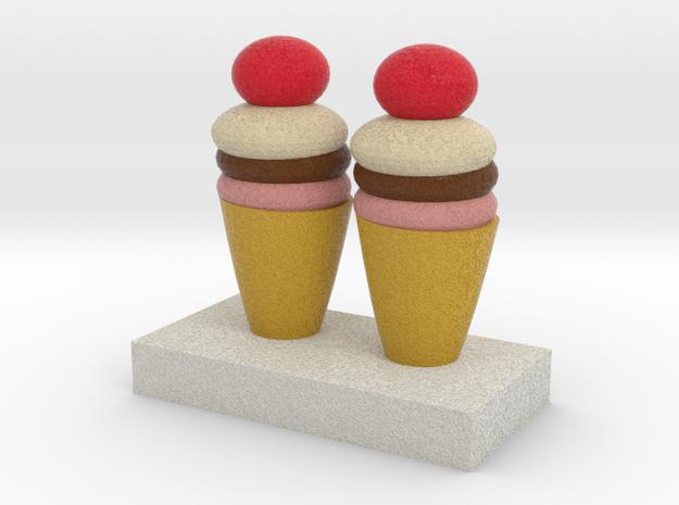 Ice Creams Model in Full Color Sandstone