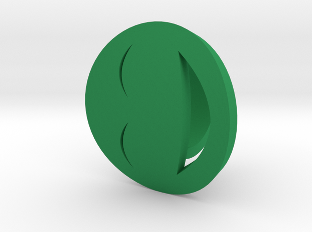 Smile/laughing Ring Size 5, 15.7 mm  in Green Processed Versatile Plastic