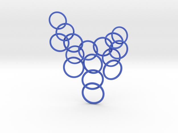 Ring Pendant in Blue Processed Versatile Plastic