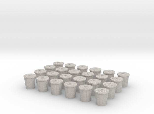 Trash Cans, Set of 24 for Power Grid