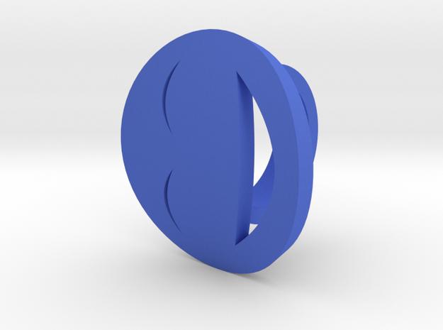 Smile Ring Size 9, 19.0 mm in Blue Processed Versatile Plastic