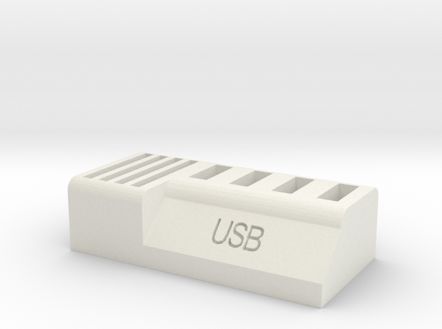 Usb and Sd card holder in White Natural Versatile Plastic
