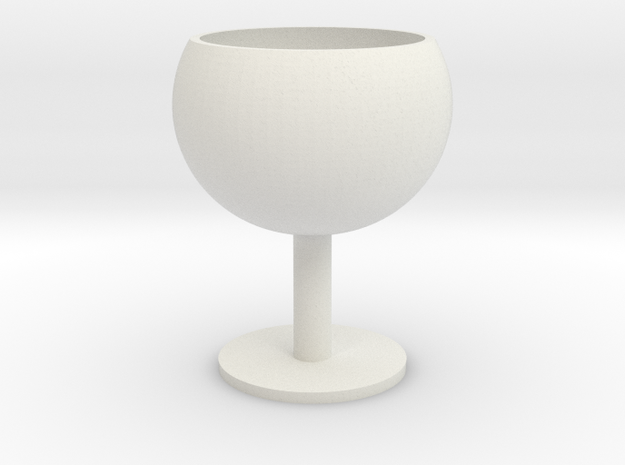 Cute Goblet in White Strong & Flexible