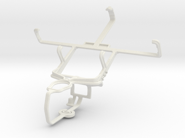Controller mount for PS3 & Lenovo A789 in White Natural Versatile Plastic