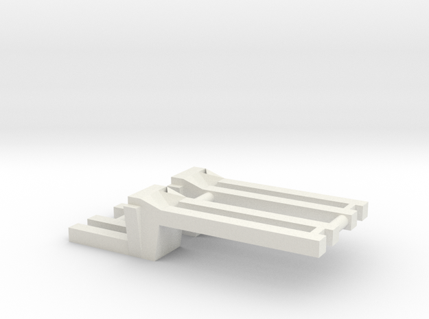 Saddle Tank Brackets 1/64 in White Strong & Flexible