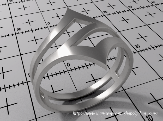 Ring Model C - Size 6 - Silver
