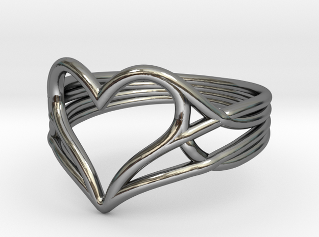 Woven Heart Ring - Larger (Size 7)