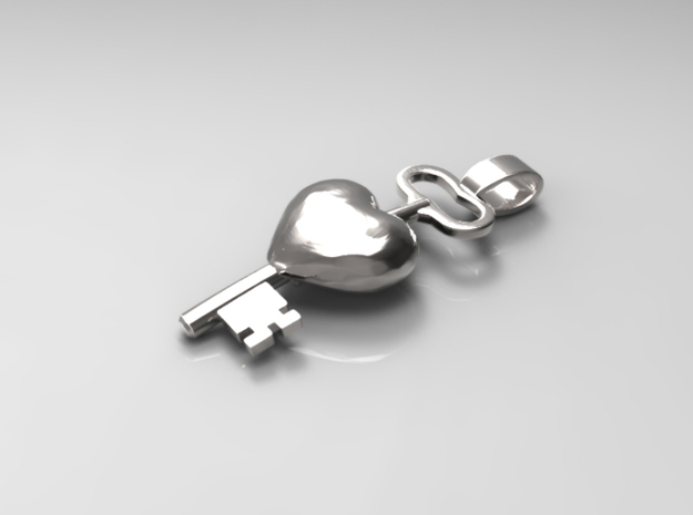 The key to a heart, 002 3d printed 3D Rendered representation of the final product