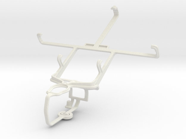 Controller mount for PS3 & LG Vu 3 in White Natural Versatile Plastic