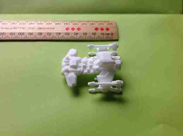 Star Battle Cruiser - Smaller in White Natural Versatile Plastic