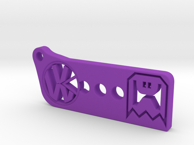 VW Pac-man in Purple Processed Versatile Plastic