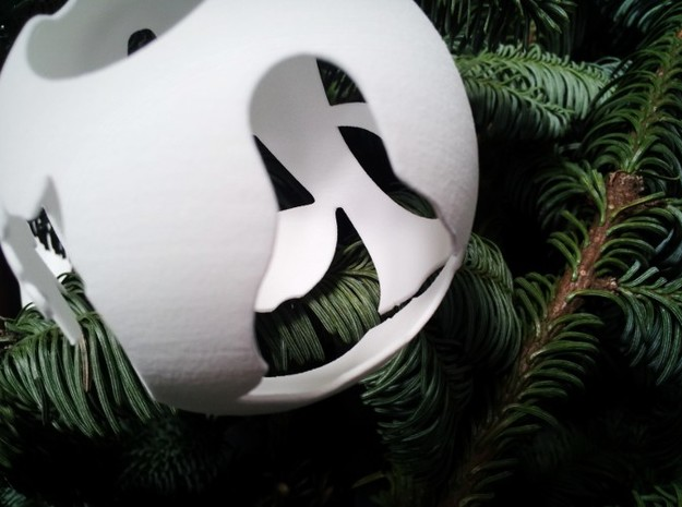 Open Source Christmas Ornament 3d printed Gimp logo seen through the Linux logo