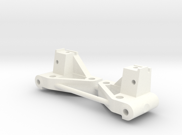 NIX62081 Front Arm Mounts (20 deg.) in White Processed Versatile Plastic