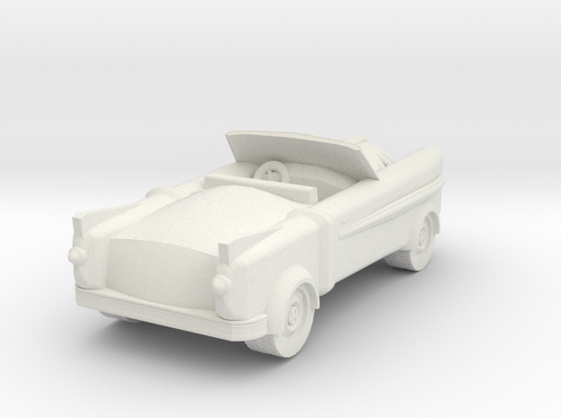 Lancer Car for 28/30mm wargaming retrofuturistic in White Strong & Flexible