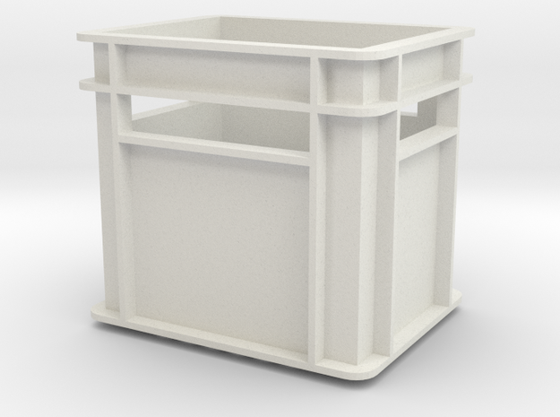 1:6 scale Beverage Crates Megahouse Style in White Natural Versatile Plastic