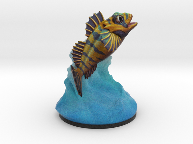 Flipping Fish Splash! in Full Color Sandstone