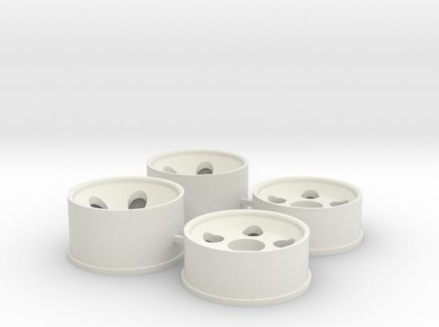 0 Offset in White Natural Versatile Plastic