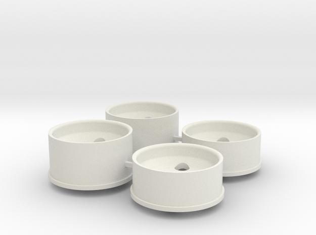 2 Offset in White Natural Versatile Plastic