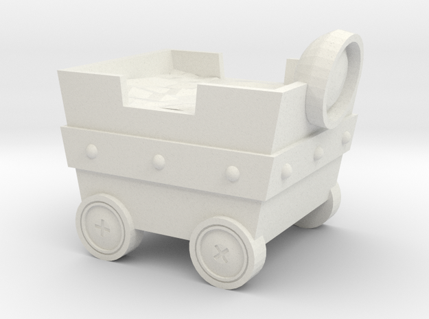 Mine cart in White Natural Versatile Plastic