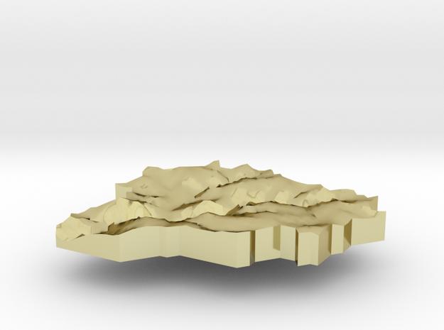 Andorra Terrain Silver Pendant 3d printed