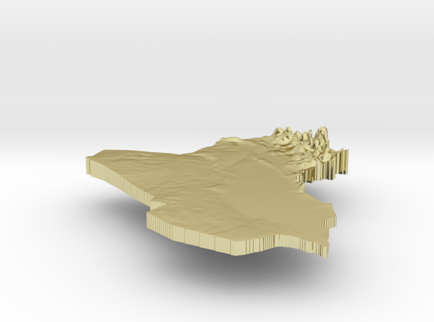 Iraq Terrain Silver Pendant 3d printed