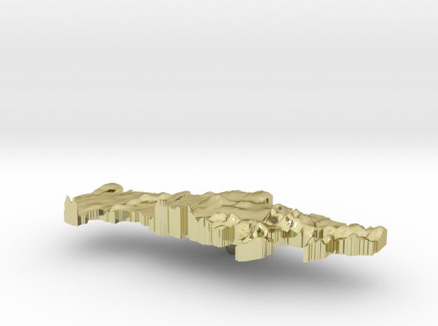 Russian Federation Terrain Silver Pendant 3d printed